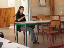 Photo de Nathalie présentant l'association Veglorraine