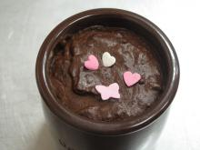 photo d'une mousse au chocolat végane